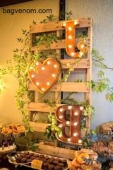 DIY Wedding Decoration Ideas - Home Decorating Ideas Diy Wedding Decorations, Wedding Ideas, Organizing Your Home, Ladder Decor, Wedding Planner, Palette, Backyard, Home Decor, Wedding Planer
