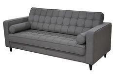 One Kings Lane - Rugged & Refined - Bilbao Sofa, Light Gray