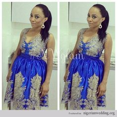 Wedding guests aso-ebi styles at Stephanie Coker\'s traditional ...