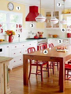 12 design ideas for a colorful retro kitchen!