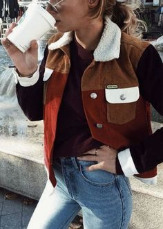 color blocked jacket