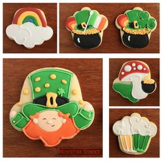 St. Patrick's Day Cookies using a cupcake cutter.    on the blog     Awesome pic, thanks! Have a look at these FREE ST. PATRICK'S DAY CLIP ARTS.  http://www.teacherspayteachers.com/Product/St-Patricks-Day-Free-Clip-Art-Images