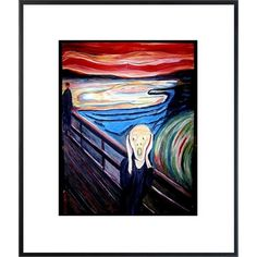 "Professional Framed Reproduction Print of Edvard Munch's ""The Scream""  #art #gift  $44.00 @Cindy Goss- Columbia"