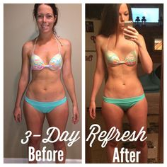 My results from the 3-Day Refresh #cleanse #cleaneating #beachbody #bikini #3dayrefresh #juicecleanse