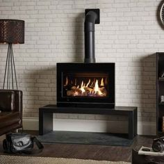 Gazco Riva2 F670 Glass Fronted Balanced Flue Gas Stove
