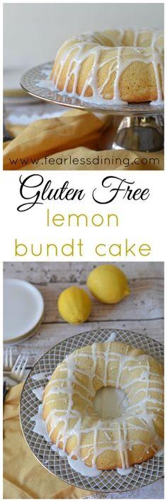 Gluten Free Lemon Bundt Cake www.fearlessdinin... #gluten #recipes #glutenfree #healthy #recipe