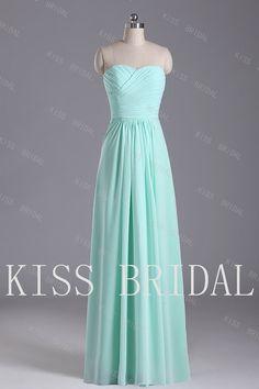 A-line  Sweetheart  Sleeveless Floor-length Elegant  Simple Chiffon   Prom Dress 2013