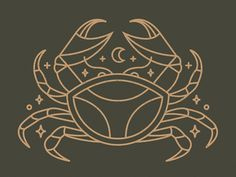 Great work from a designer in the Dribbble community; your best resource to discover and connect with designers worldwide. Tribal Tattoos, Tattoos Skull, Body Art Tattoos, Wing Tattoos, Sleeve Tattoos, Cancer Crab Tattoo, Cancer Tattoos, Horoscope Tattoos, Zodiac Tattoos
