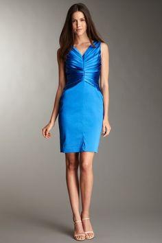 Ellen Tracy starburst pleated dress