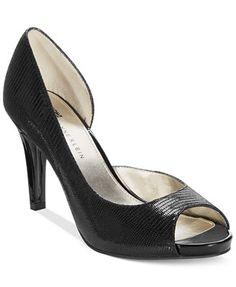 Anne Klein Octavie d'Orsay Platform Pumps leather black 3.25h sz7.5 59.49 Sale thru 11/16 15%off