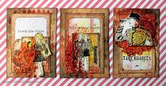 Courage ATC's by Riikka Kovasin for Mixed Media Place