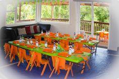 Dinosaur party - tables