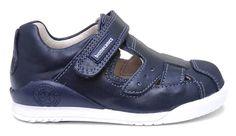 Biomecanics zapato de piel azul marino.