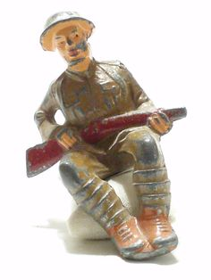 Vintage Barclay Manoil Seated Soldier