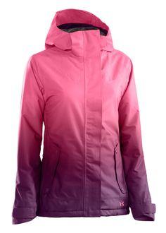Womens Ski/Snowboard Jacket in Lollipop/Velvet/Lollipop  Quilting Detailing on Front Yoke Waterproof/Breathable Construction