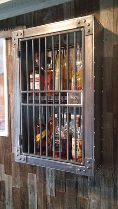furniture - 58 liquor cabinet, rustic iron and wood with natural distressed finish 19 Welded Furniture, Industrial Design Furniture, Steel Furniture, Industrial House, Home Decor Furniture, Rustic Furniture, Furniture Ideas, Kitchen Furniture, Furniture Design