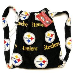 """Pittsburgh Steelers Beach Towel Backpack by McArthur. $28.00. Same fabric shoulder straps. Officially licensed by the NFL. 100% Cotton. We're going to the beach! Packing light is key when going to the beach for some fun in the sun. This Pittsburgh Steelers drawstring closure backpack transforms into a beach towel measuring 30""""x60"""" when opened and a convenient 14""""x12""""x7"""" when closed and on your back, leaving you plenty of room for sunscreen and accessories. All-o..."""