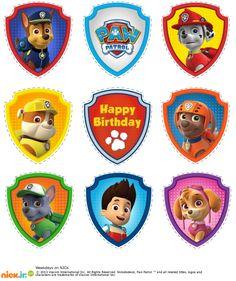 Paw Patrol Badge Template