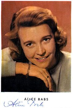Alice Babs - Sweden - Place 4 || Swedish jazz singer and actress