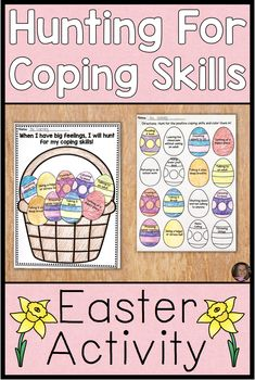 Coping Skills Activities For Easter Counseling Lessons Kids Coping Skills, Coping Skills Activities, Social Emotional Activities, Counseling Activities, Therapy Activities, Group Counseling, Easter Activities, Activities For Kids, Feelings And Emotions