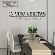 Wandtattoo Zitat In Vino Veritas Spruch - WS20 von Lunatik-Style via dawanda.com