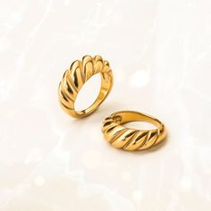 ☆ Croissant Ring   Croissant Dome Ring   Chunky Gold Ring   Gold Dome Ring   Trendy Croissant Ring   Gold Statement Ring   Minimalist Ring ☆ This gold dome ring will add a touch of glam to your everyday outfit and can also be a lovely gift for a special someone. It is a super trendy design that you will love having in your jewelry collection. Wear this statement ring alone for a minimalist look or stack it together with other dainty rings to create a beautiful combination.Features:◦ Stainless St Dainty Ring, Dainty Jewelry, Stackable Rings, Croissant, Signet Ring, Statement Rings, Gold Ring, Band Rings, Jewelry Collection