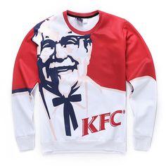 Funny Sweatshirt KFC 3d //Price: $37.33 & FREE Shipping //     #Funnygifts