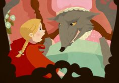 Red Riding Hood by Roland MacDonald, via Behance