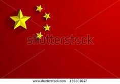 Creative Abstract Flag of China Backgroung - stock vector