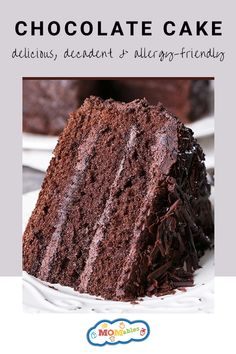 This gluten, dairy, and egg-free Chocolate Cake recipe is delicious, decadent, and so easy to make. Whether you make it for a birthday party, special occasion, or well-deserved treat, everyone can enjoy a slice, or two! Summer Dessert Recipes, Healthy Dessert Recipes, Clean Eating Recipes, Delicious Desserts, Cake Recipes, Egg Free Chocolate Cake, Chocolate Recipes, Gluten Free Sweets, Gluten Free Baking