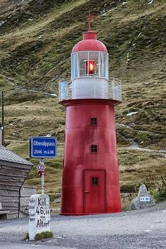 Graubünden, Switzerland; Oberalppass Lighthouse