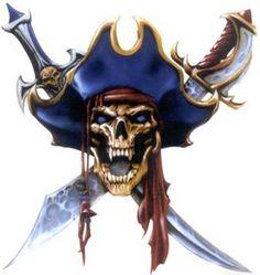 Pirate Art, Pirate Life, Pirate Theme, Pirate Skull Tattoos, Pirate Tattoo, Dark Fantasy Art, Fantasy Artwork, Arte Viking, Totenkopf Tattoos