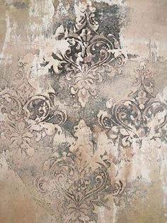 Home Decoration Diy . Home Decoration Diy Faux Walls, Textured Walls, Faux Painting, Texture Painting, Wall Paint Inspiration, Damask Wall Stencils, Wall Decor, Wall Art, Art Deco Design