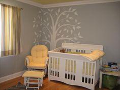 yellow/gray nursery