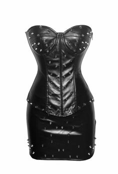 Leather Corset Outfit Shapewear Black
