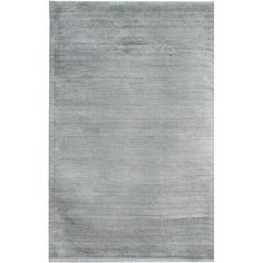 Hand-loomed of durable wool and beautiful viscose, this rug is eye catching and beautiful. A stunning shade of grey completes this area rug.