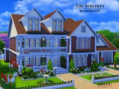 The Sims Resource: The Serenity house by sharon337 • Sims 4 Downloads