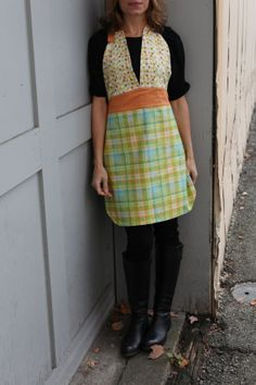 Your place to buy and sell all things handmade Blue Plaid, My Mom, Apron, Friday, Orange, Night, Trending Outfits, Fun, Etsy