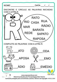 Pasta, Letter R Activities, Reading Activities, Kids Learning Activities, Literacy Activities, Pasta Recipes, Pasta Dishes