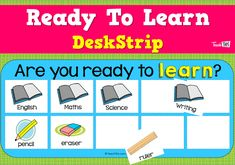 Ready To Learn - DeskStrip