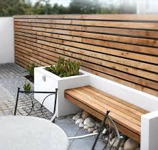 Image result for slatted trellis with flower bench