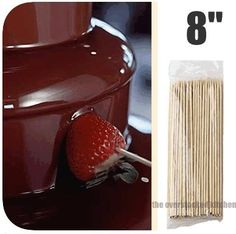 "1,200 NEW 8"" CHOCOLATE FOUNTAIN / KEBAB KABOB BAMBOO SKEWERS by overstockedkitchen. $15.69. Bamboo skewers are non-heat conductive and therefore an ideal tool for appetizer, kabobs, and chocolate fountains.Length: 8""Price is for 12 packs of 100 count skewers."