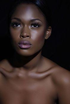 Gorgeous, luminous dark skin