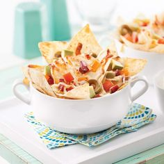 Nachos individuels Antipasto, Apple Pie, Bbq, Appetizers, Lunch, Cooking, Breakfast, Ethnic Recipes, Desserts