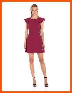 BCBGeneration Women's Back Ruffle Dress, Purple Berry, 4 - All about women (*Amazon Partner-Link)