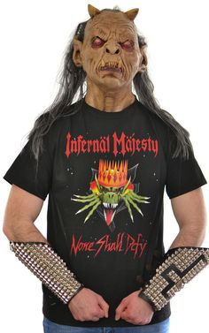 Infernal Majesty - None Shall Defy T-SHIRT M Slayer Sodom Possessed Destuction #Gildan #BasicTee