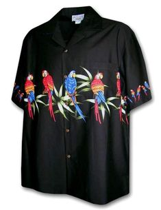 c4ff5cfb Men's Macaw Short Sleeve Shirt. Mens Hawaiian ShirtsHawaiian MenCasual Button  Down ShirtsMen ...