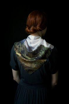 Sierra 1  43x43 Silk scarf  Digital printed  by lascoleccionistas
