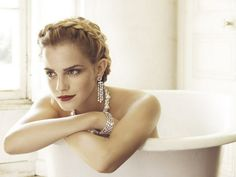 Emma Watson in an ad for Lancome