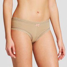 Women's Cotton and Lace Bikini Honey Beige XS